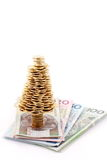 Gouden boom Royalty-vrije Stock Afbeeldingen