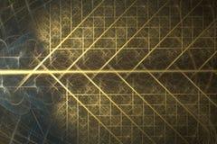 Gouden boomfractal netwerk Royalty-vrije Stock Afbeeldingen