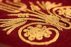 Gouden borduurwerk Stock Afbeelding