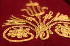 Gouden borduurwerk Stock Fotografie