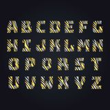Gouden brief alphabeth Hoofd hogere serif ABC stock illustratie
