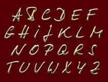 Gouden brieven Royalty-vrije Stock Foto's