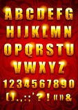 Gouden brieven Stock Foto's