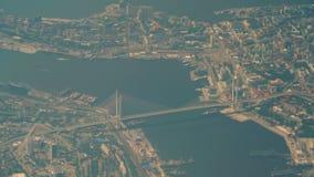 Gouden brug Vladivostok stock videobeelden