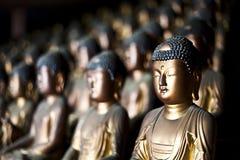 Gouden Buddhas Stock Afbeeldingen