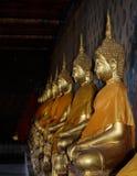 Gouden Buddhas Royalty-vrije Stock Foto's