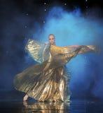 Gouden buik Eagle-Turkije de dans-de werelddans van Oostenrijk Royalty-vrije Stock Foto's