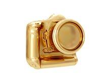 Gouden Camera het 3d teruggeven Royalty-vrije Stock Afbeeldingen