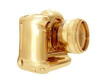 Gouden Camera het 3d teruggeven Royalty-vrije Stock Fotografie