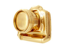 Gouden Camera het 3d teruggeven Stock Foto