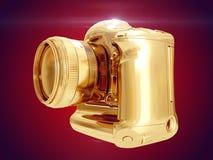 Gouden Camera het 3d teruggeven Royalty-vrije Stock Foto's