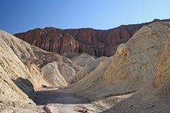 Gouden canion, Doodsvallei Stock Afbeeldingen