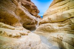Gouden Canionsleep in het Nationale Park van de Doodsvallei stock foto's