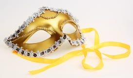 Gouden Carnaval masker van romantisch Royalty-vrije Stock Foto's