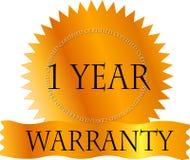 Gouden Certicate de Garantie van 1 Jaar vector illustratie