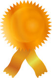 Gouden Certicate etiketspatie met band Royalty-vrije Illustratie