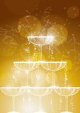 Gouden champagne Royalty-vrije Stock Foto's