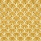 Gouden Chinees Naadloos Patroon Royalty-vrije Stock Afbeelding
