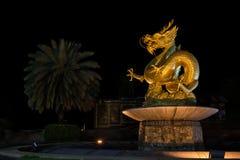 Gouden Chinese draak Stock Afbeelding