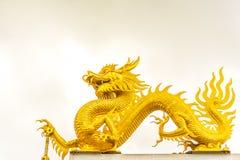 Gouden Chinese draak Stock Afbeeldingen