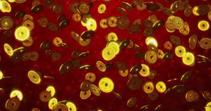 Gouden Chinese muntstukken stock foto