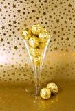 Gouden chocolade royalty-vrije stock foto's