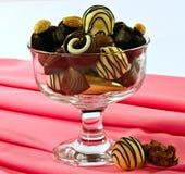 Gouden chocolade Stock Afbeeldingen