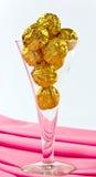 Gouden chocolade royalty-vrije stock fotografie