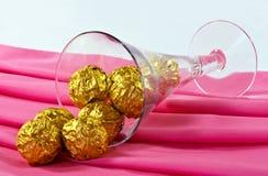 Gouden chocolade royalty-vrije stock afbeelding