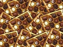Gouden chocoladedoos Royalty-vrije Stock Foto