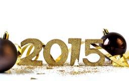 Gouden 2015 cijfers Stock Afbeeldingen