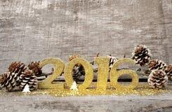 Gouden cijfers 2016 Stock Foto