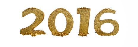 Gouden cijfers 2016 Stock Foto's