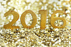 Gouden cijfers 2016 Royalty-vrije Stock Fotografie