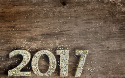 2017 gouden cijfers Royalty-vrije Stock Afbeelding