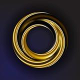 Gouden cirkel Stock Foto's