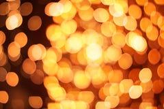 Gouden cirkels bokeh effect in uitbreiding royalty-vrije stock foto
