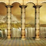 Gouden Colonnade Stock Foto