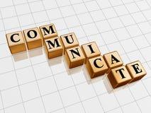 Gouden communiceer stock illustratie