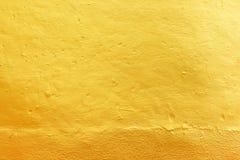 Gouden concrete textuur Stock Afbeeldingen
