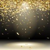 Gouden confettien Stock Fotografie