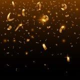 Gouden confettien royalty-vrije illustratie