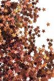 Gouden confettienachtergrond Stock Foto's