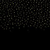 Gouden confettienachtergrond Stock Fotografie