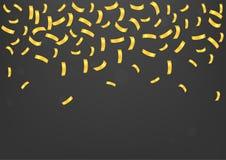 Gouden confettienachtergrond Stock Afbeelding