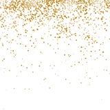 Gouden Confettienpatroon stock illustratie