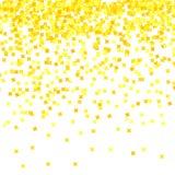 Gouden Confettienpatroon vector illustratie