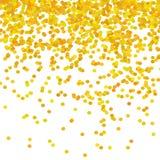Gouden Confettienpatroon royalty-vrije illustratie