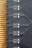 Gouden contacten Stock Foto