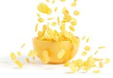 Gouden cornflakes Royalty-vrije Stock Foto